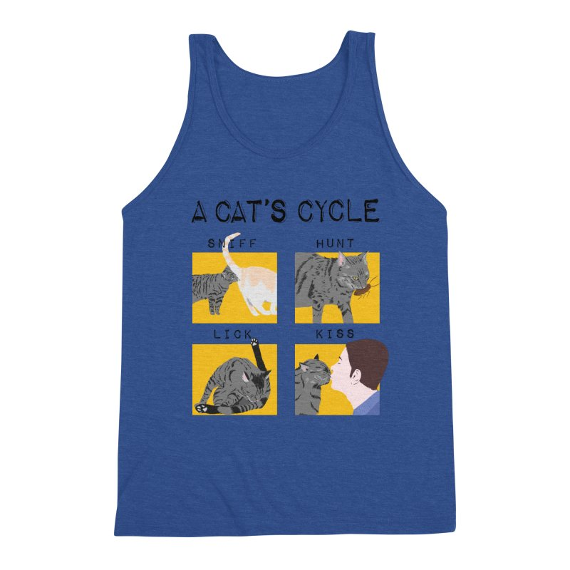 A cat's cycle Men's Triblend Tank by Hello Siyi