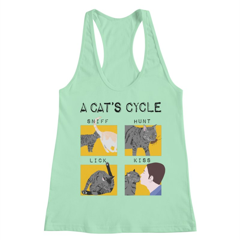 A cat's cycle Women's Racerback Tank by Hello Siyi