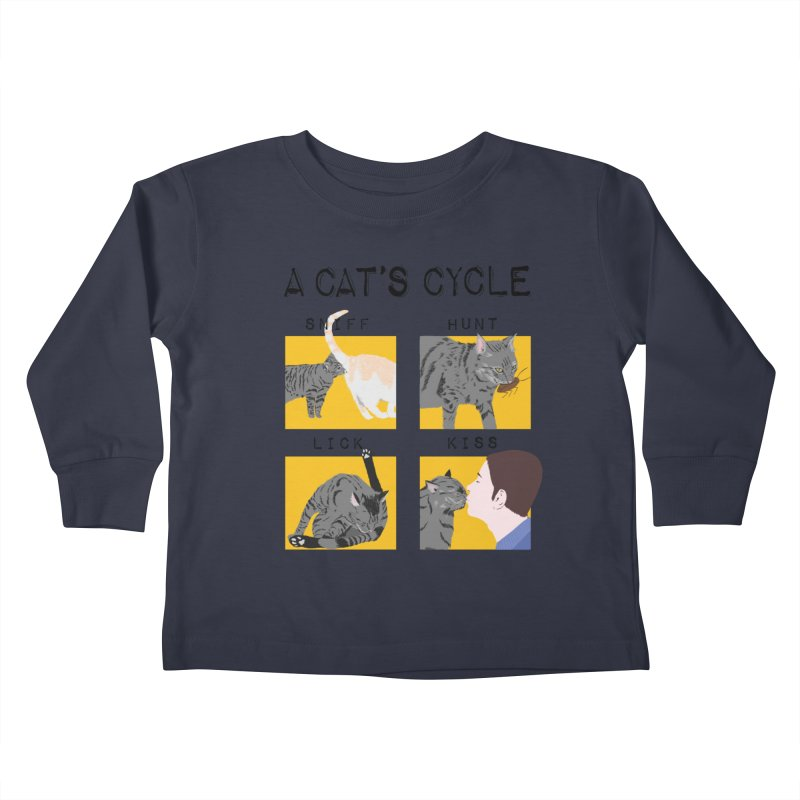 A cat's cycle Kids Toddler Longsleeve T-Shirt by Hello Siyi