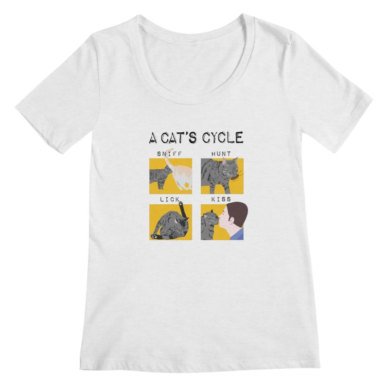A cat's cycle Women's Regular Scoop Neck by Hello Siyi