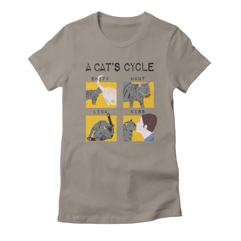 A cat's cycle Women's Fitted T-Shirt by Hello Siyi
