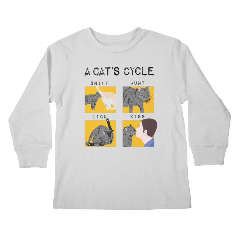 A cat's cycle Kids Longsleeve T-Shirt by Hello Siyi