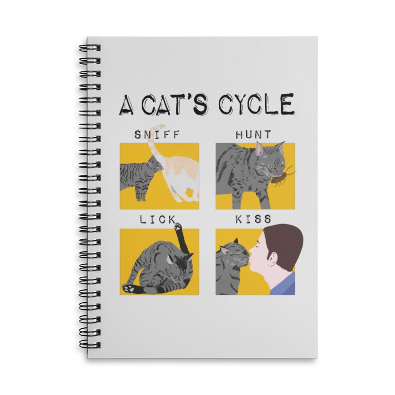 A cat's cycle Accessories Lined Spiral Notebook by Hello Siyi