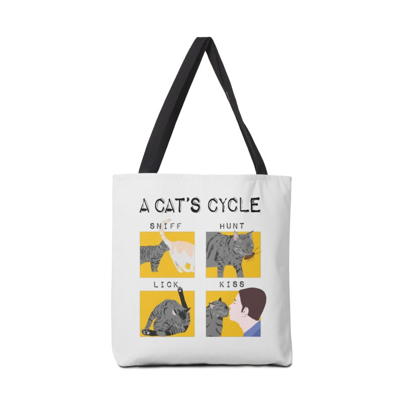 A cat's cycle Accessories Tote Bag Bag by Hello Siyi