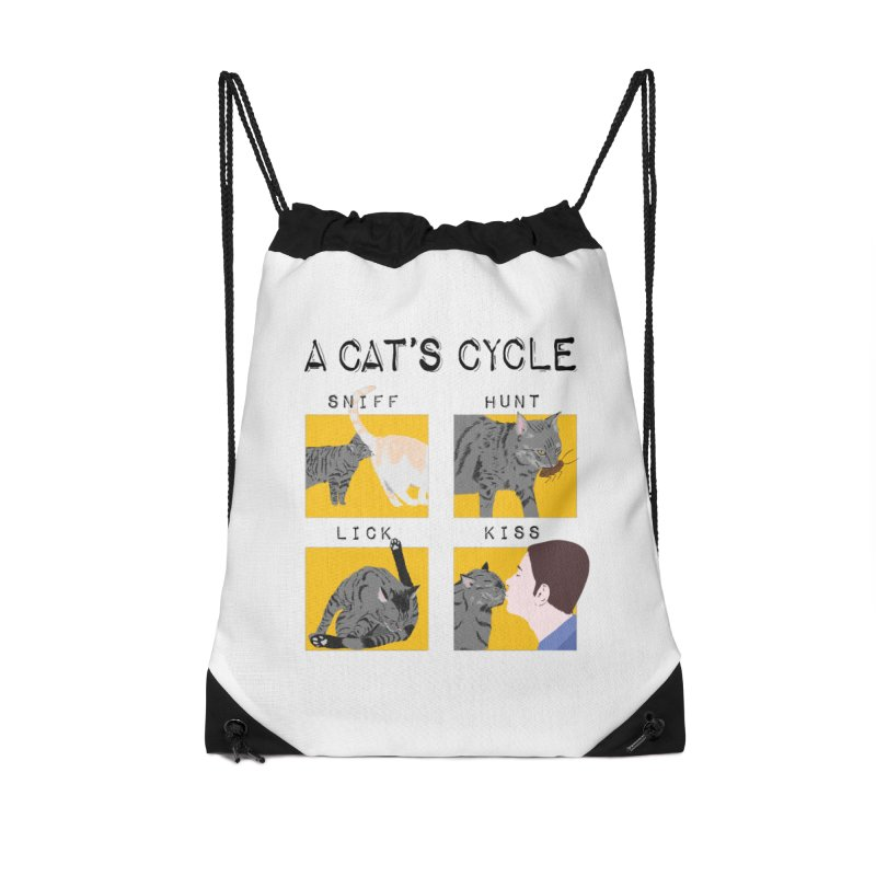 A cat's cycle Accessories Drawstring Bag Bag by Hello Siyi