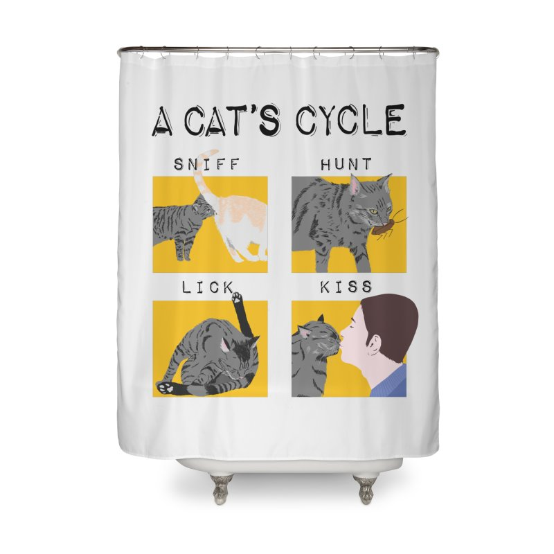 A cat's cycle Home Shower Curtain by Hello Siyi