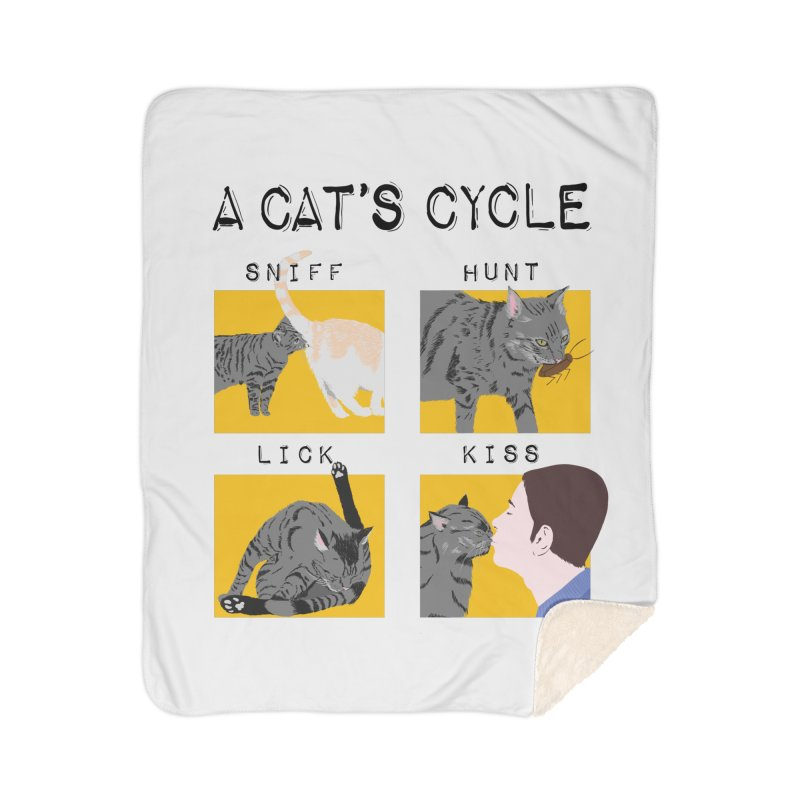 A cat's cycle Home Sherpa Blanket Blanket by Hello Siyi