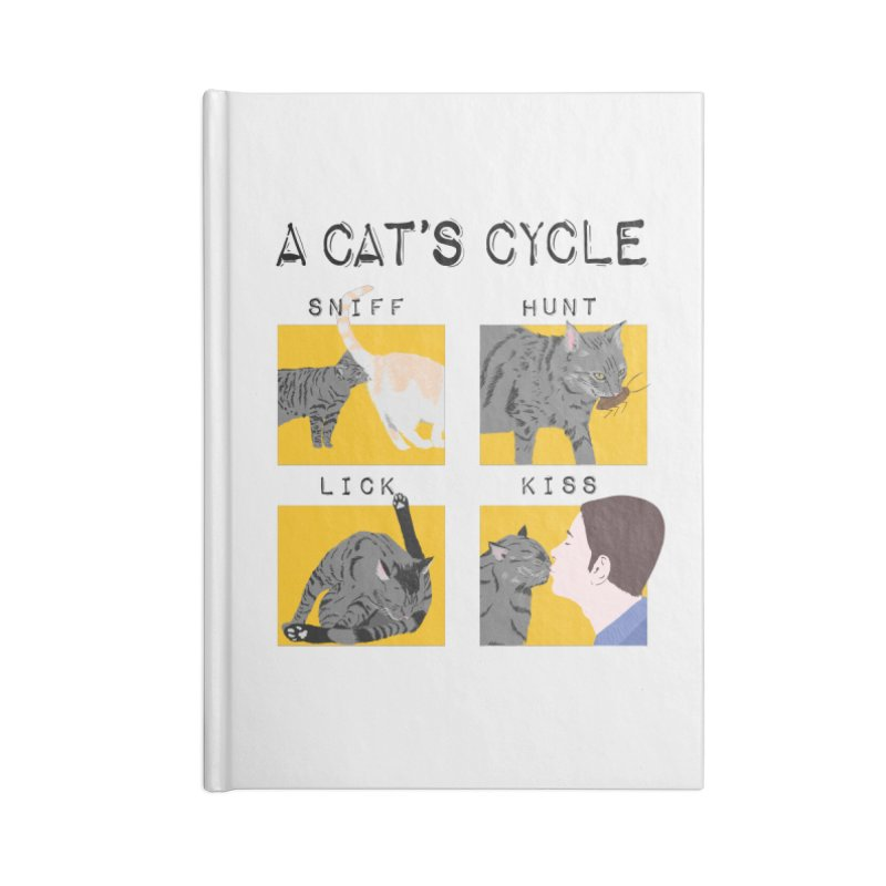 A cat's cycle Accessories Lined Journal Notebook by Hello Siyi