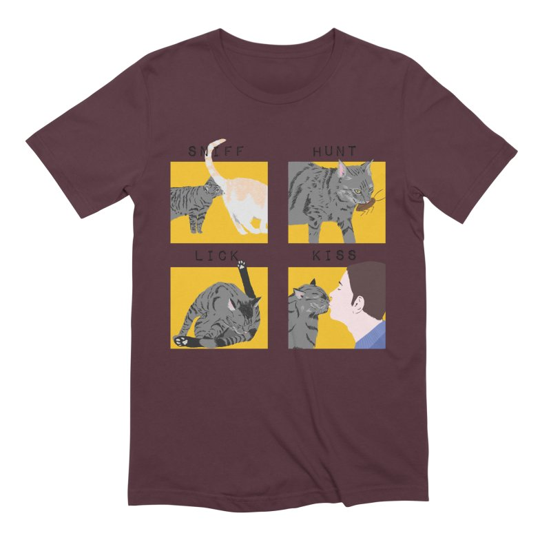 A cat's cycle (version 2) Men's Extra Soft T-Shirt by Hello Siyi
