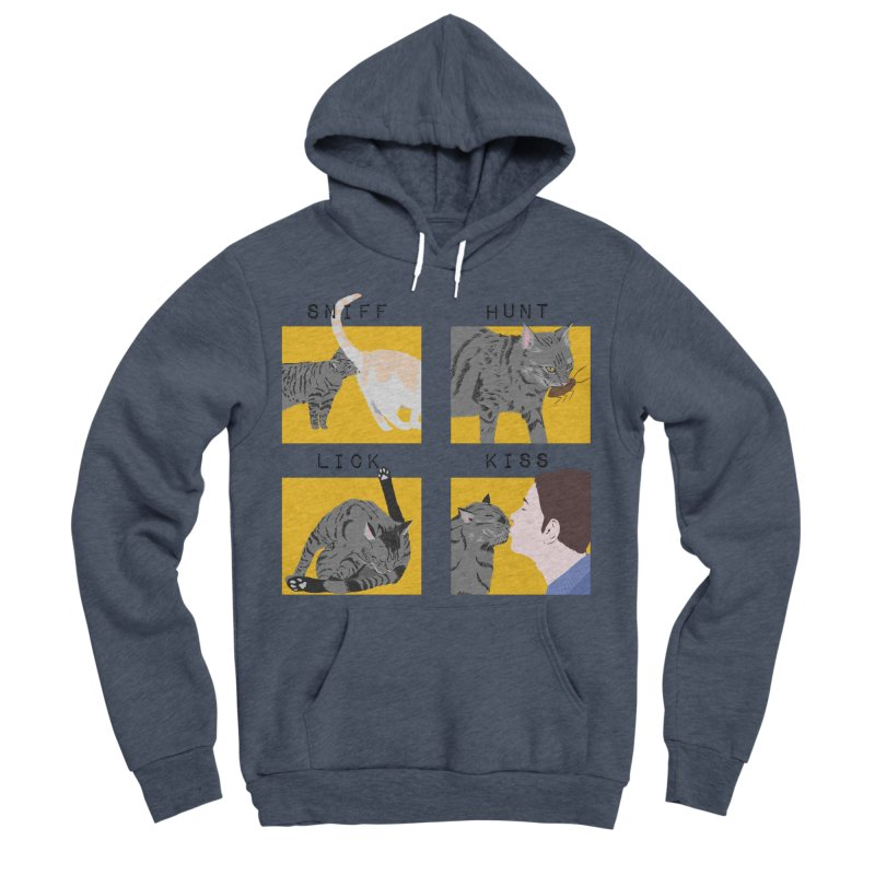 A cat's cycle (version 2) Men's Sponge Fleece Pullover Hoody by Hello Siyi