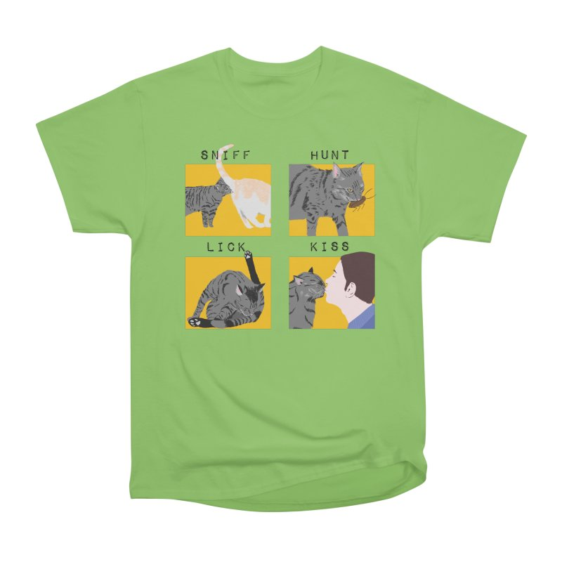 A cat's cycle (version 2) Men's Heavyweight T-Shirt by Hello Siyi