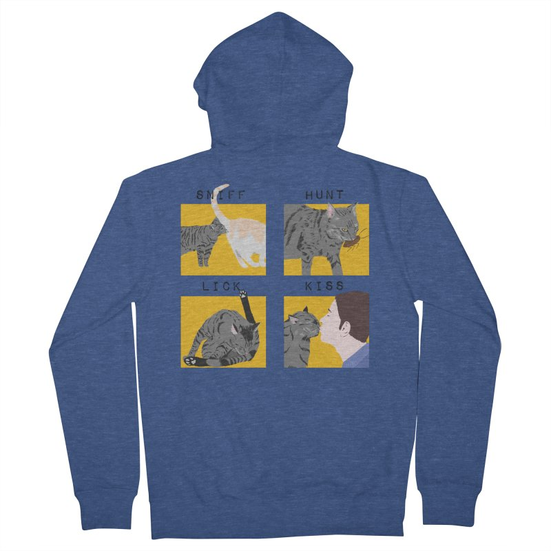 A cat's cycle (version 2) Men's French Terry Zip-Up Hoody by Hello Siyi