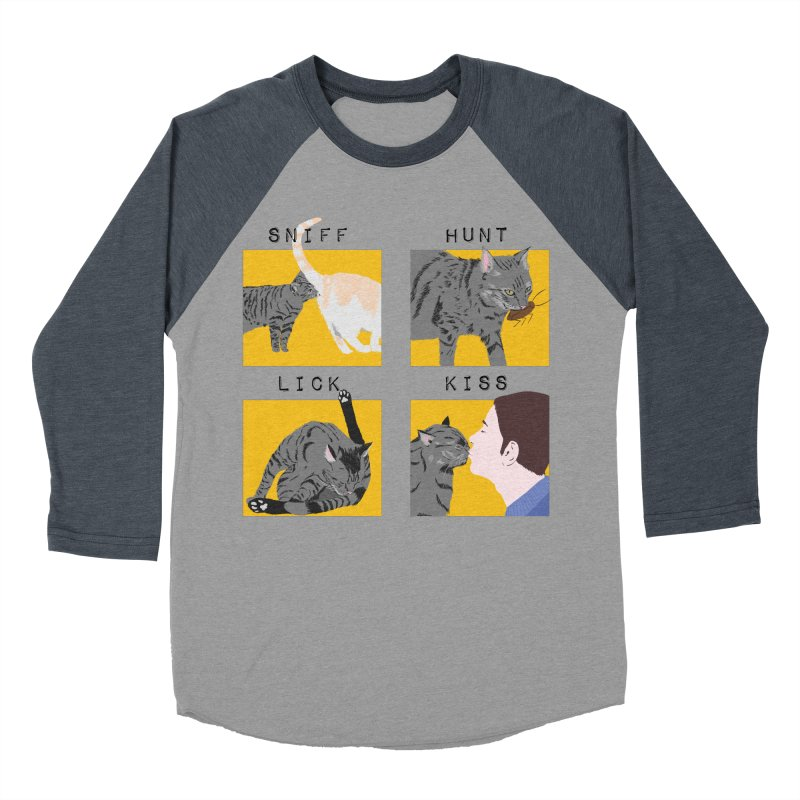 A cat's cycle (version 2) Women's Baseball Triblend Longsleeve T-Shirt by Hello Siyi