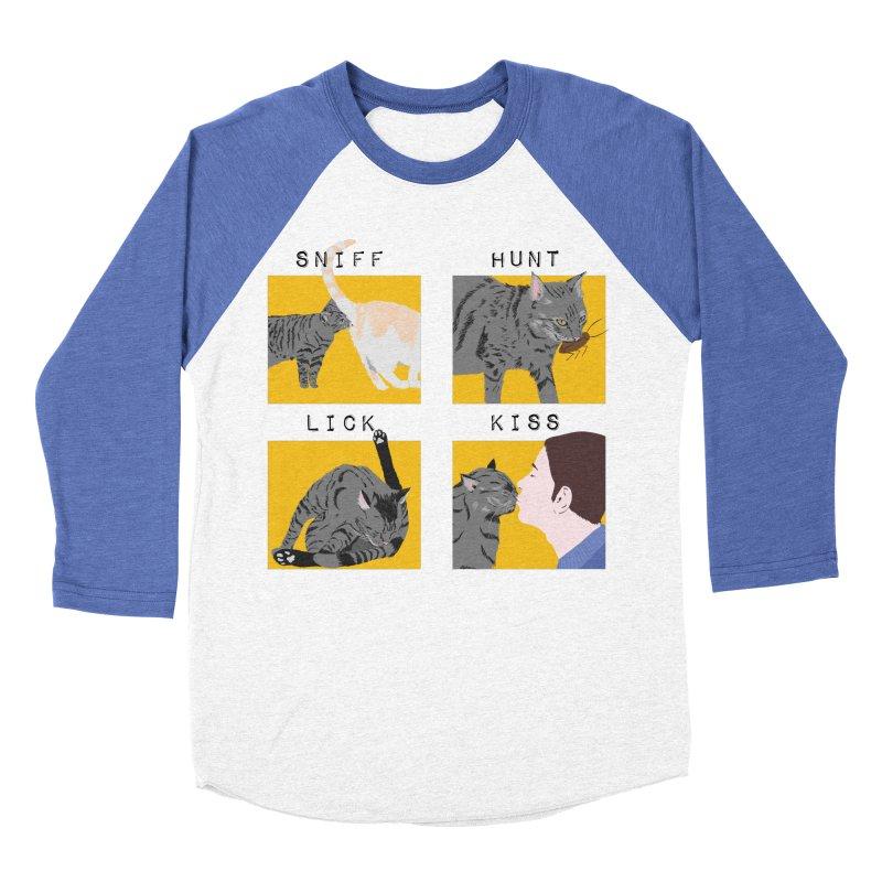 A cat's cycle (version 2) Men's Baseball Triblend Longsleeve T-Shirt by Hello Siyi