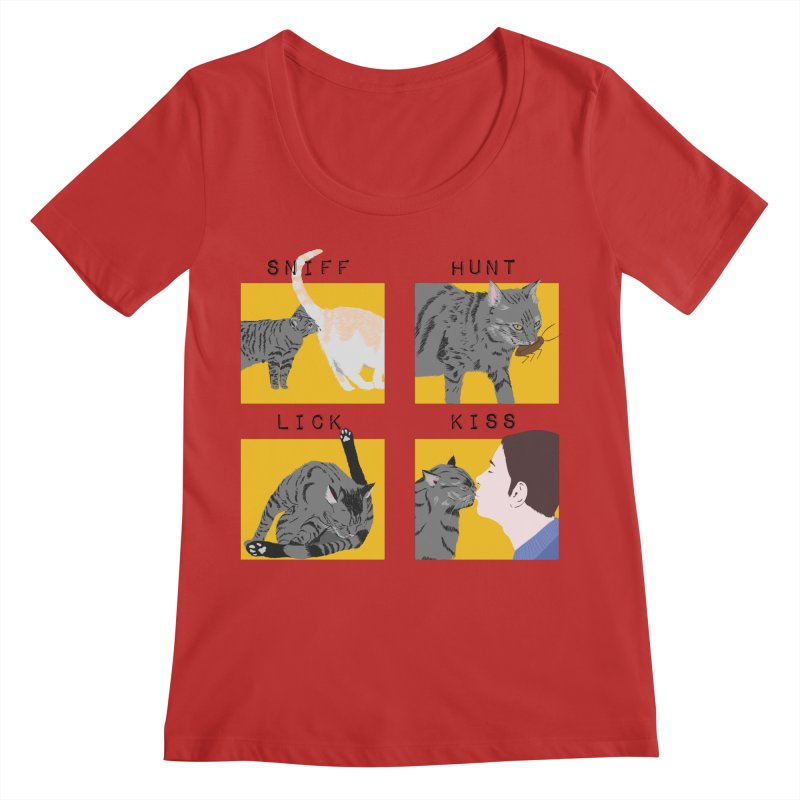 A cat's cycle (version 2) Women's Regular Scoop Neck by Hello Siyi