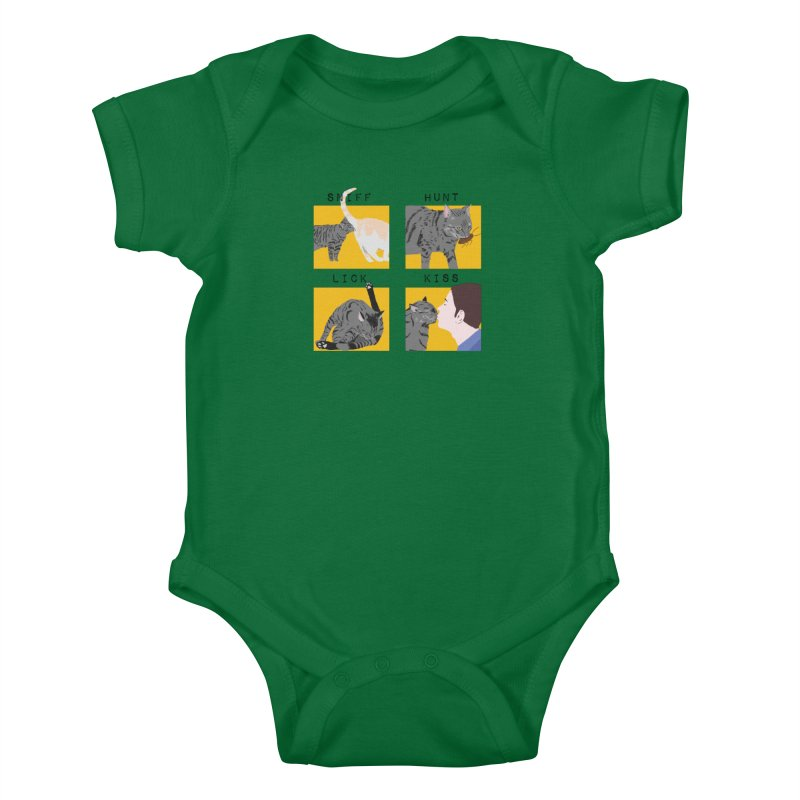 A cat's cycle (version 2) Kids Baby Bodysuit by Hello Siyi