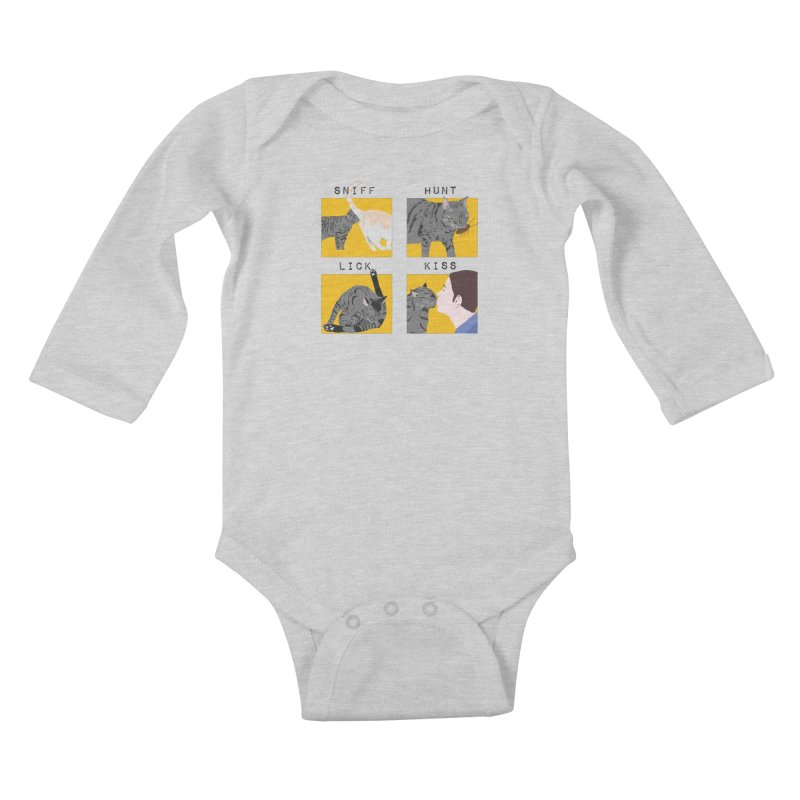 A cat's cycle (version 2) Kids Baby Longsleeve Bodysuit by Hello Siyi