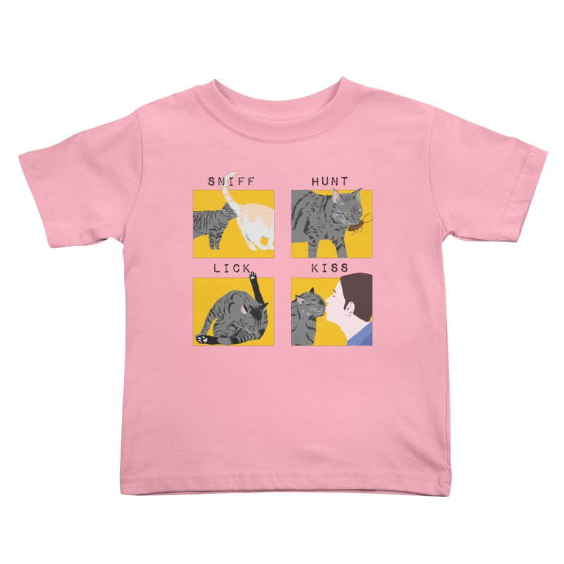 A cat's cycle (version 2) Kids Toddler T-Shirt by Hello Siyi