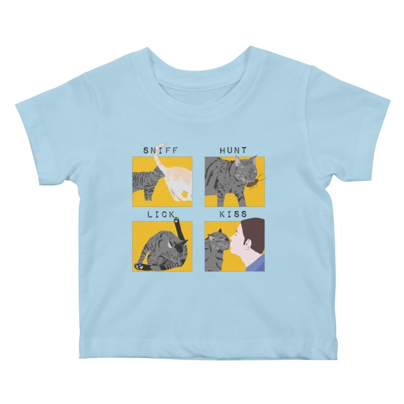 A cat's cycle (version 2) Kids Baby T-Shirt by Hello Siyi