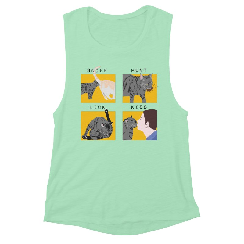 A cat's cycle (version 2) Women's Muscle Tank by Hello Siyi