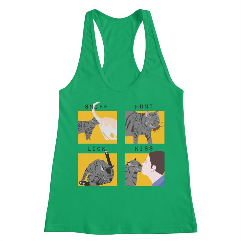 A cat's cycle (version 2) Women's Racerback Tank by Hello Siyi