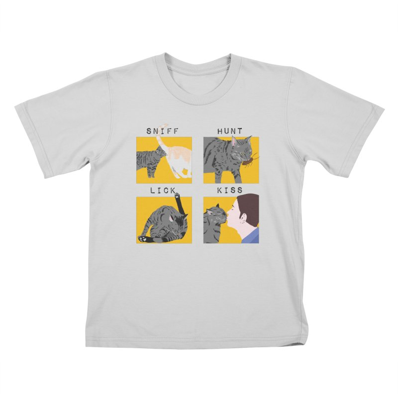A cat's cycle (version 2) Kids T-Shirt by Hello Siyi