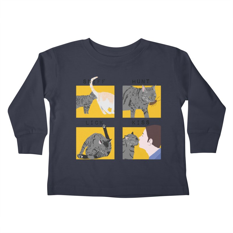 A cat's cycle (version 2) Kids Toddler Longsleeve T-Shirt by Hello Siyi