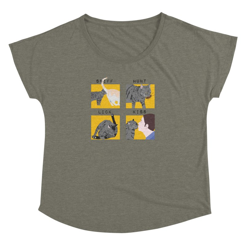 A cat's cycle (version 2) Women's Dolman Scoop Neck by Hello Siyi