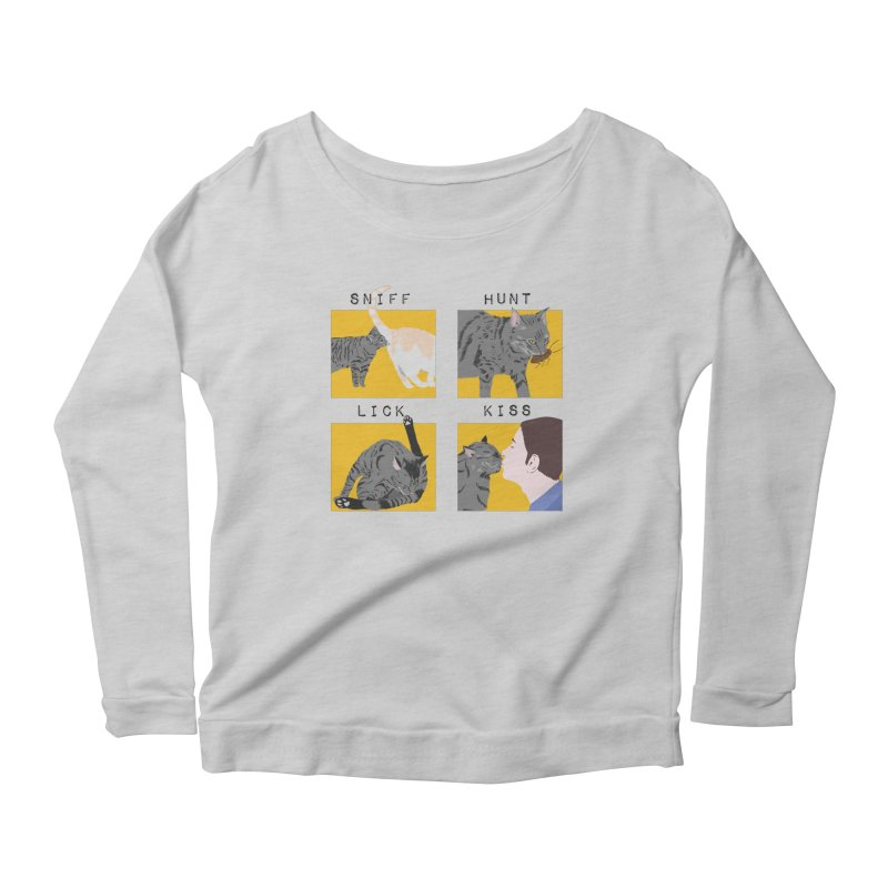 A cat's cycle (version 2) Women's Scoop Neck Longsleeve T-Shirt by Hello Siyi