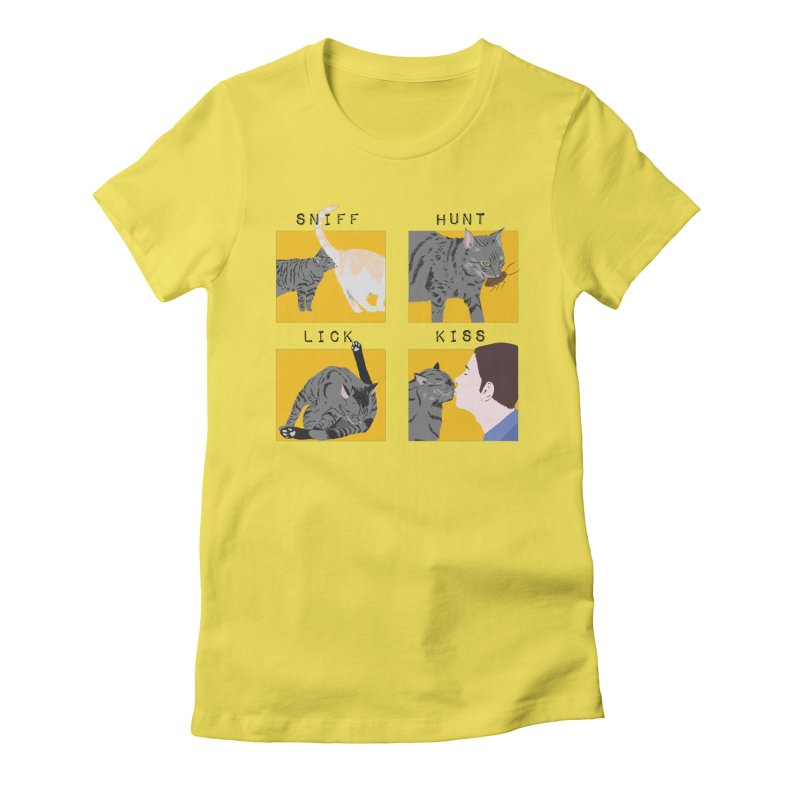 A cat's cycle (version 2) Women's Fitted T-Shirt by Hello Siyi
