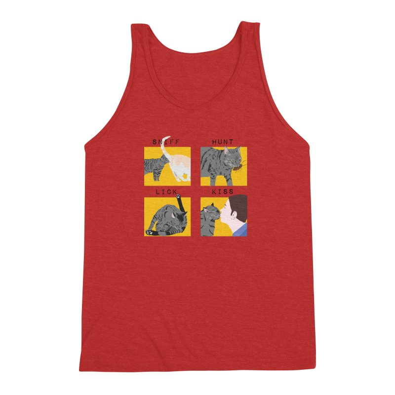 A cat's cycle (version 2) Men's Triblend Tank by Hello Siyi