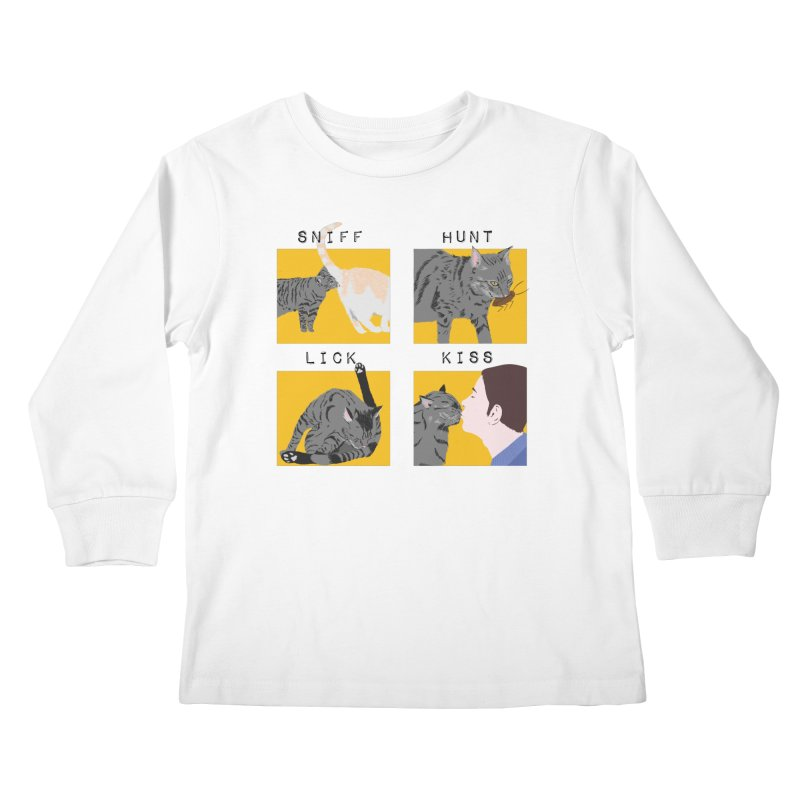 A cat's cycle (version 2) Kids Longsleeve T-Shirt by Hello Siyi