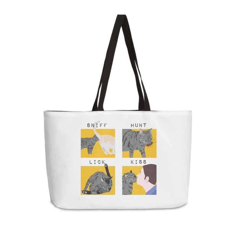 A cat's cycle (version 2) Accessories Weekender Bag Bag by Hello Siyi