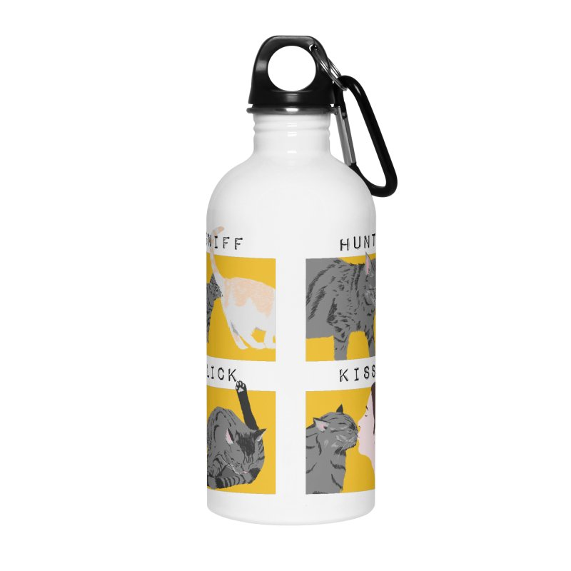 A cat's cycle (version 2) Accessories Water Bottle by Hello Siyi