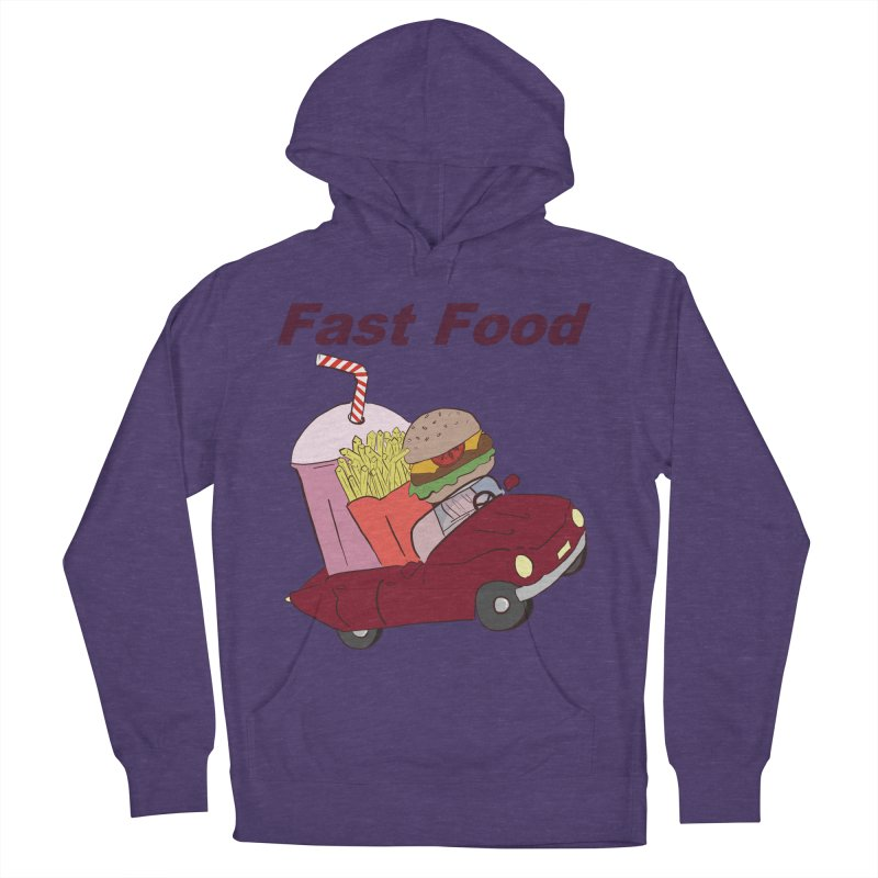 Fast Food Women's French Terry Pullover Hoody by Hello Siyi