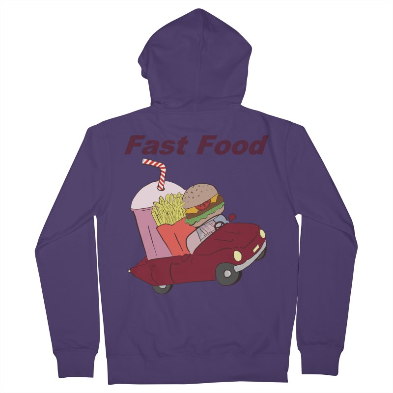 Fast Food Women's French Terry Zip-Up Hoody by Hello Siyi