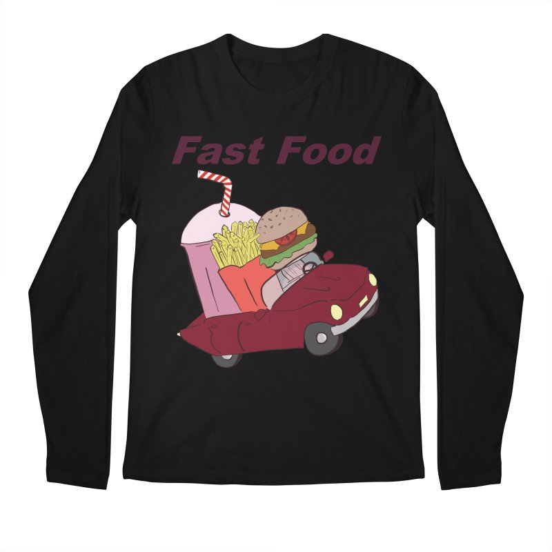 Fast Food Men's Regular Longsleeve T-Shirt by Hello Siyi