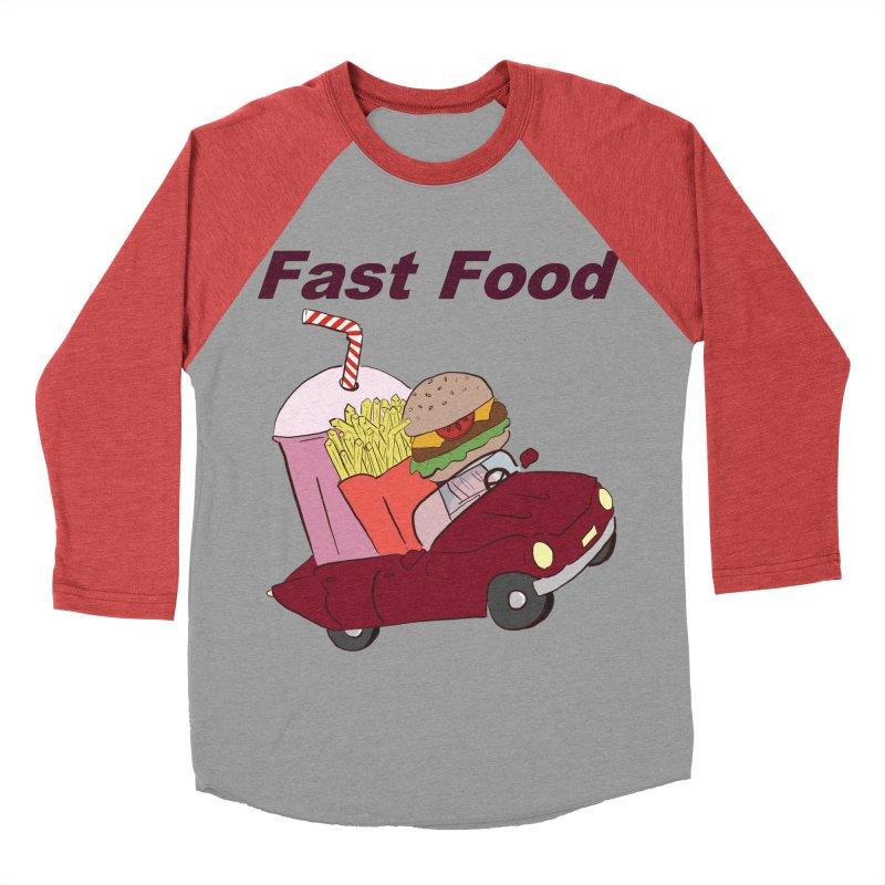 Fast Food Women's Baseball Triblend Longsleeve T-Shirt by Hello Siyi