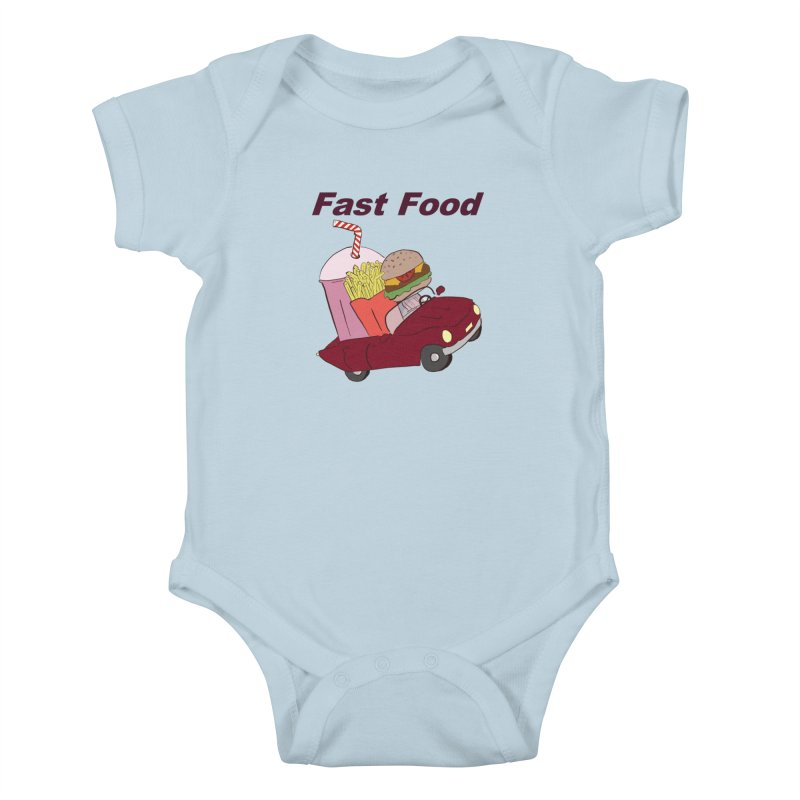 Fast Food Kids Baby Bodysuit by Hello Siyi