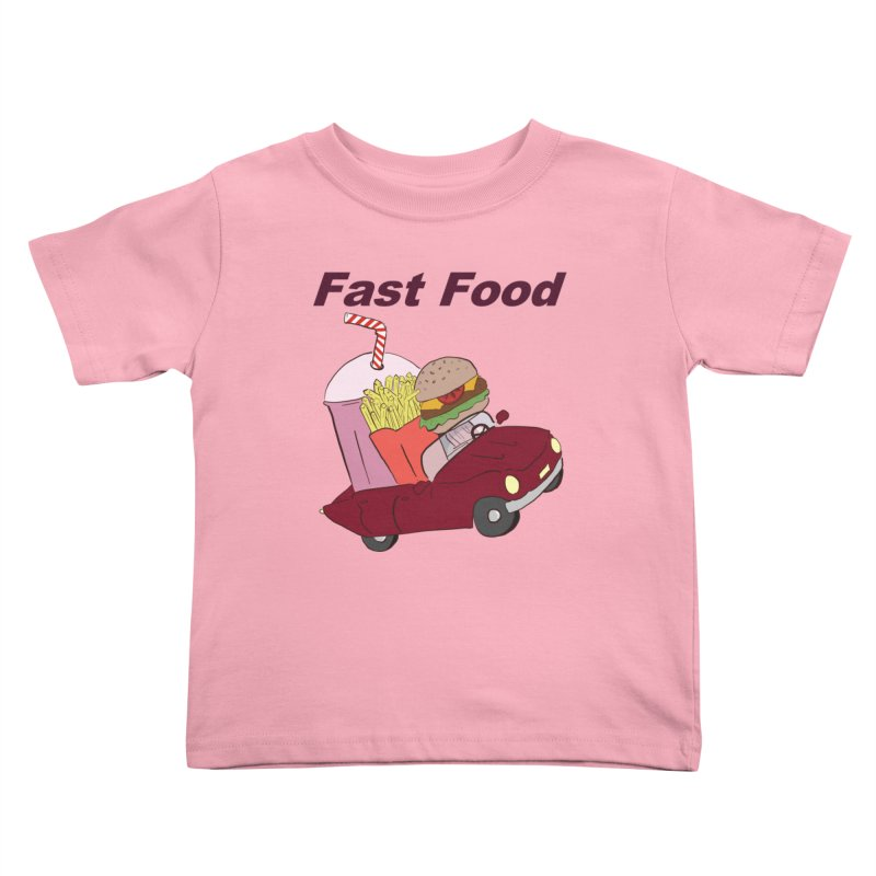 Fast Food Kids Toddler T-Shirt by Hello Siyi