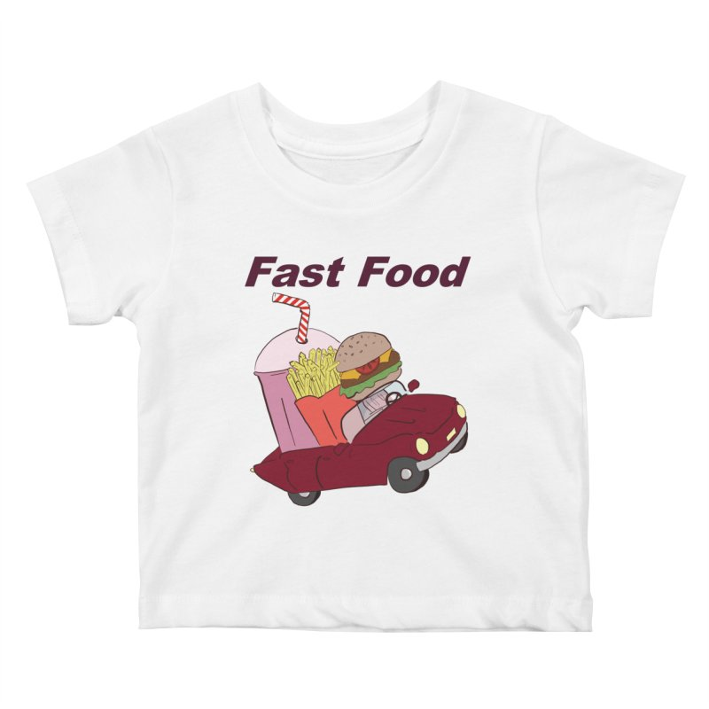 Fast Food Kids Baby T-Shirt by Hello Siyi