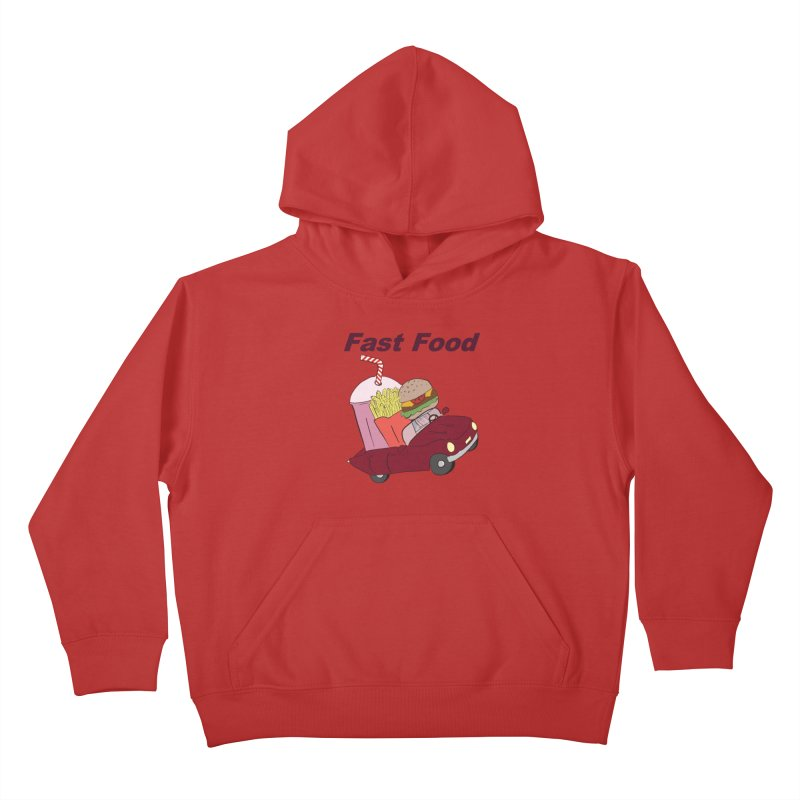 Fast Food Kids Pullover Hoody by Hello Siyi