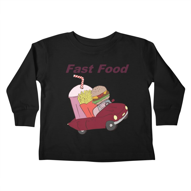 Fast Food Kids Toddler Longsleeve T-Shirt by Hello Siyi
