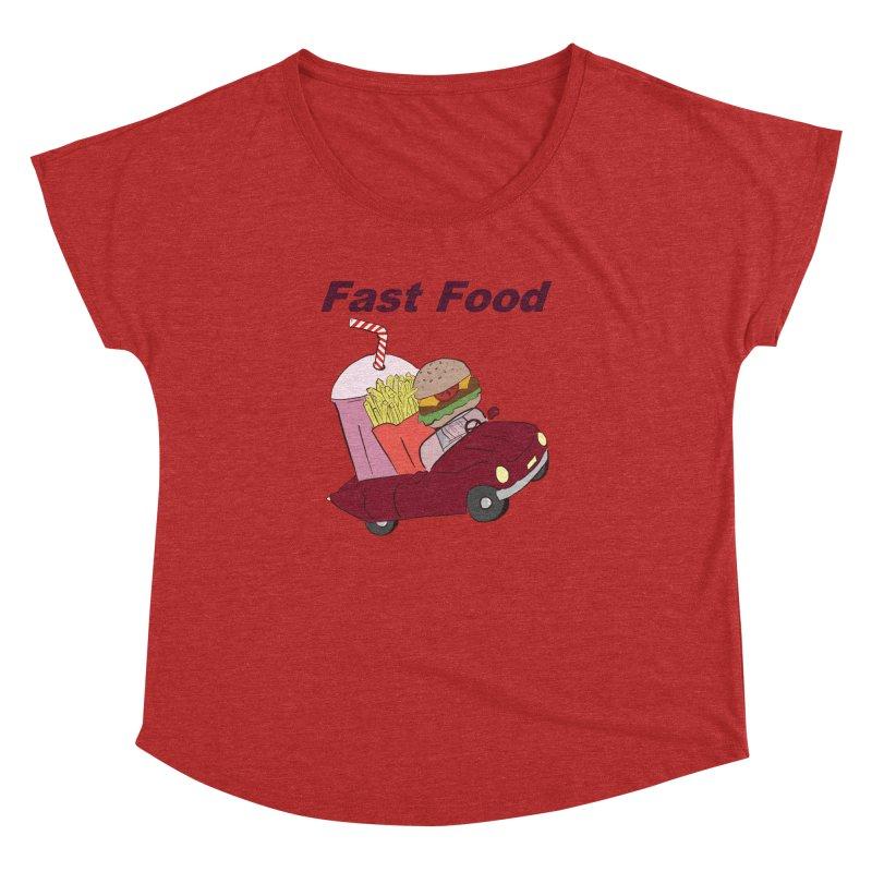 Fast Food Women's Dolman Scoop Neck by Hello Siyi