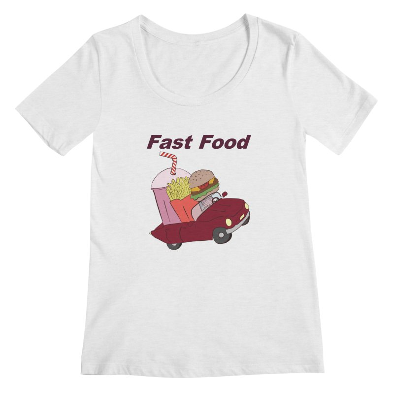 Fast Food Women's Regular Scoop Neck by Hello Siyi