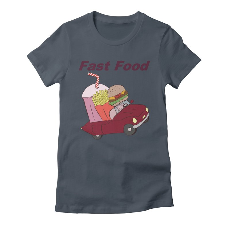 Fast Food Women's Fitted T-Shirt by Hello Siyi