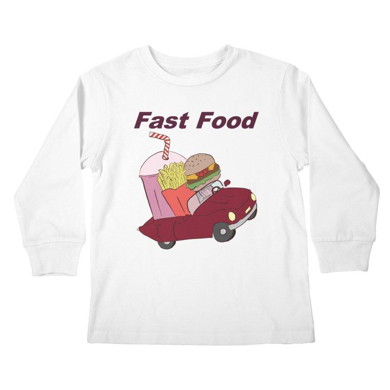 Fast Food Kids Longsleeve T-Shirt by Hello Siyi