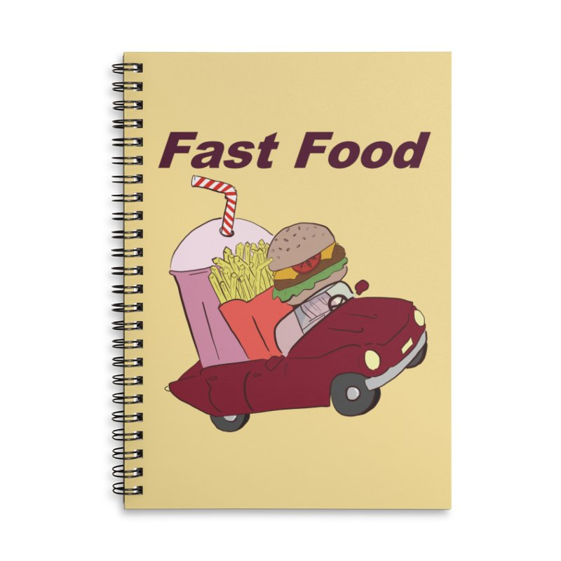 Fast Food Accessories Lined Spiral Notebook by Hello Siyi