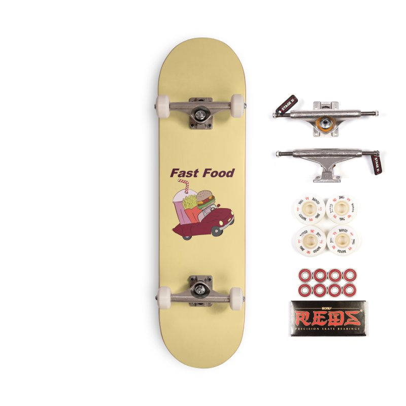 Fast Food Accessories Complete - Pro Skateboard by Hello Siyi