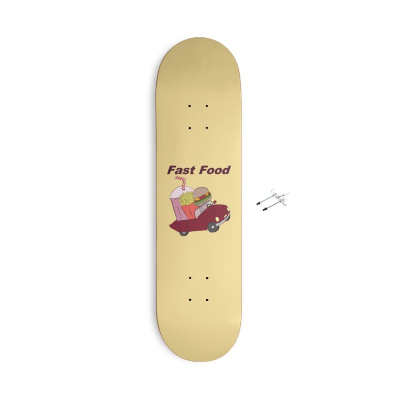 Fast Food Accessories With Hanging Hardware Skateboard by Hello Siyi